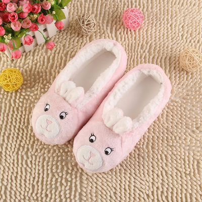 Womens Plush Cow Slippers, Bunny Slippers, and Kitten Slippers