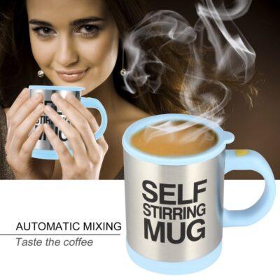 Autonomous Self Stirring Stainless Steel Coffee Mug