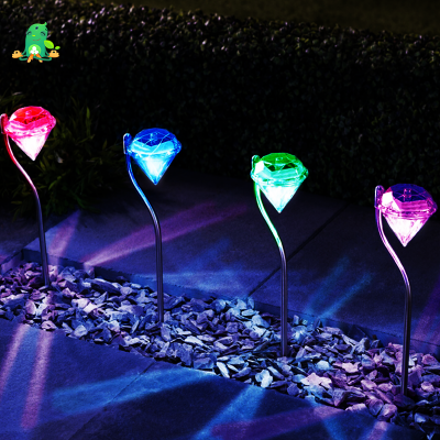 Diamond-Shaped Garden RGB LED Lamps
